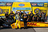 top fuel, Richie Crampton, DHL, victory, celebration, trophy, Toyota, Staff