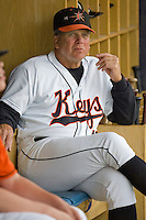 Hebner, Richie 1340.jpg. Carolina League Myrtle Beach Pelicans at the Frederick Keys at Harry Grove Stadium on May 13th 2009 in Frederick, Maryland. Photo by Andrew Woolley.