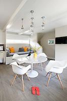 Eames design armchairs