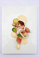 Europe/France/Bretagne/22/Côtes d'Armor/Saint-Brieuc: Jean-Marie Baudic en cuisine dans son restaurant: Youpala Bistrot