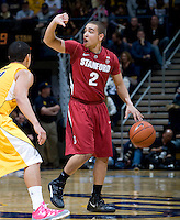 STANFORD, CA - January 29th, 2012: Aaron Bright of Stanford in action during a basketball game against California at Haas Pavilion in Berkeley, California.   California won 69-59 against Stanford.