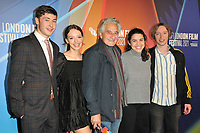 """Samuel Bottomley, Iazua Larios, Henry Goodman, Erendira Nunez Larios and James Tarpey at the 65th BFI London Film Festival """"Sundown"""" UK premiere, BFI Southbank, Belvedere Road, on Saturday 09th October 2021, in London, England, UK. <br /> CAP/CAN<br /> ©CAN/Capital Pictures"""