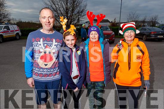 Patrick and Chloe O'Donoghue, Josephine and Jemma O'Shea at the Run Rudolph Run at An Riocht in Castleisland on Sunday.