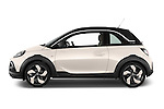 Car Driver side profile view of a 2015 Opel Adam Rocks 3 Door Hatchback Side View