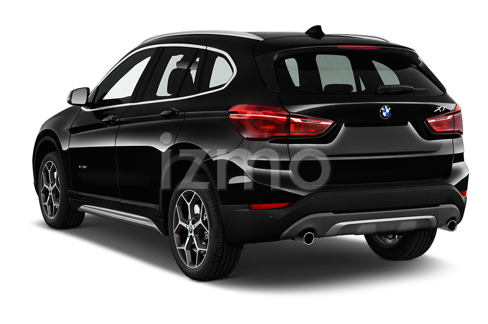 Car pictures of rear three quarter view of a 2018 BMW X1 xDrive28i 5 Door SUV angular rear
