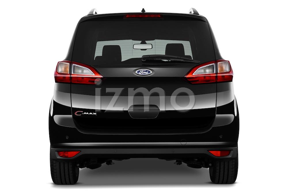 Straight rear view of a 2011 Ford Grand C-Max Titanium Mini MPV
