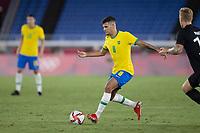 22nd July 2021; Stadium Yokohama, Yokohama, Japan; Tokyo 2020 Olympic Games, Brazil versus Germany; Bruno Guimaraes of Brazil