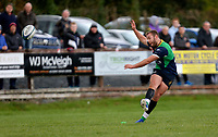 Saturday 10th October 2020 | Ballynahinch vs Queens<br /> <br /> Ross Adair converts during the Energia Community Series clash between Ballynahinch and Queens at Ballymacarn Park, Ballynahinch, County Down, Northern Ireland. Photo by John Dickson / Dicksondigital