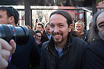Pablo Iglesias, leader of Podemos party, after casting his vote for the national elections in Madrid, Spain. December 20, 2015. (ALTERPHOTOS/Victor Blanco)