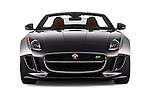 Car photography straight front view of a 2017 Jaguar F-TYPE S-Convertible 2 Door Convertible Front View
