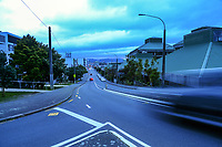 Taranaki St at 7.15am during Level 4 lockdown for the COVID-19 pandemic in Wellington, New Zealand on Monday, 23 August 2021.