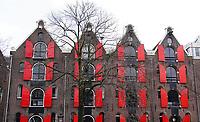 Nederland  Amsterdam   feb. 2021.   Oude pakhuizen aan de Prinsengracht. Foto Berlinda van Dam / HH / ANP.