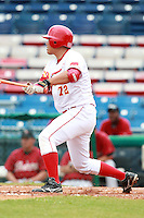 First Baseman Lin Xiaofan (72) of the China National Team during a game vs. the Houston Astros Instructional League team at Holman Stadium in Vero Beach, Florida September 28, 2010.   China is in Florida training for the Asia games which will be played in Guangzhou, China in November.  Photo By Mike Janes/Four Seam Images
