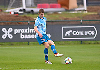 Ethan Amundsen-Day (5) of Norway pictured in action during a soccer game between the national teams Under17 Youth teams of  Norway and Belgium on day 3 in the Qualifying round in group 3 on Tuesday 12 th of October 2020  in Tubize , Belgium . PHOTO SPORTPIX   DAVID CATRY