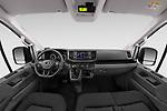 Stock photo of straight dashboard view of 2020 Man TGE - 4 Door Refrigerated Van Dashboard