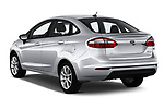 Car pictures of rear three quarter view of 2019 Ford Fiesta SE 4 Door Sedan Angular Rear