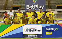 NEIVA -COLOMBIA,23-12-2020:Atlético Huila y Cortuluá  en partido ida  por el campeonato final  del Torneo BetPlay DIMAYOR I 2020 jugado en el estadio Guillermo Plazas Alcid . / Atletico Huila  and Cortulua  in firts  match for date BetPlay DIMAYOR Tournament I 2020 played at Guillermo Plazas Alcid stadium in Neiva: VizzorImage/ Sergio Reyes / Contribuidor