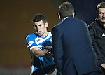St Johnstone v Inverness Caley Thistle…03.12.16   McDiarmid Park..     SPFL<br />Michael Coulson gets a 'well done' from Tommy Wright as he is subbed<br />Picture by Graeme Hart.<br />Copyright Perthshire Picture Agency<br />Tel: 01738 623350  Mobile: 07990 594431