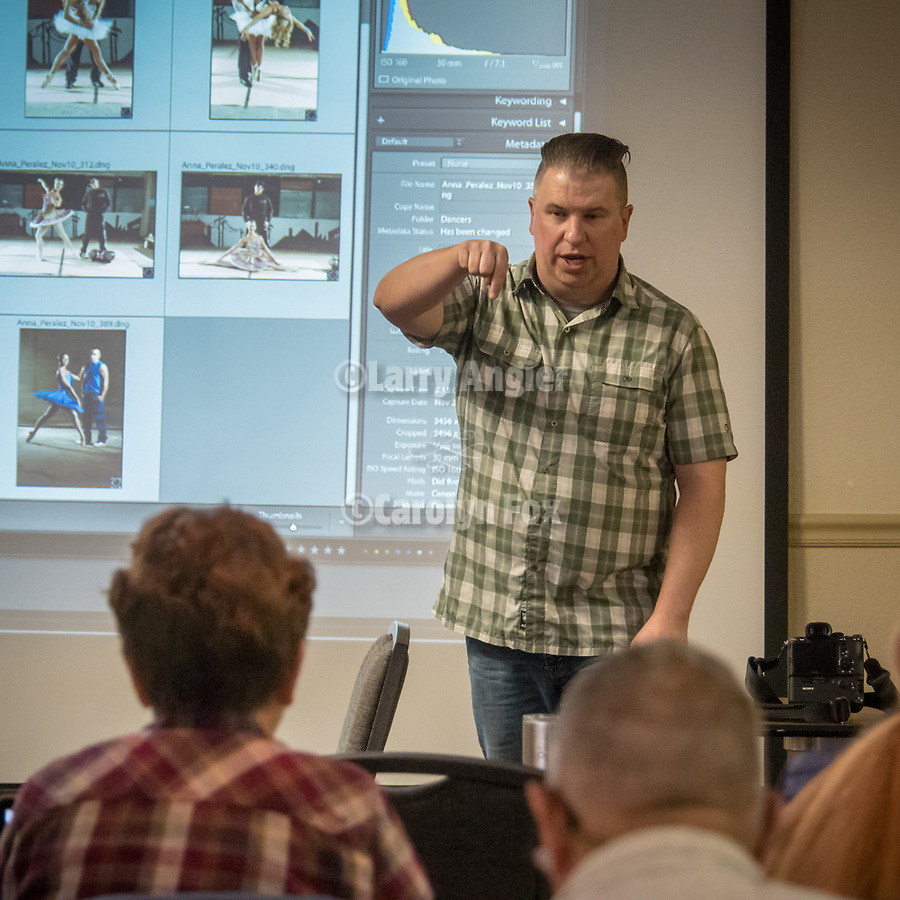 MD Welch teaching a Lightroom photo class at STW, Winnemucca<br /> <br /> #ShootingTheWest XXX, #WinnemuccaNevada, #MDWelch, #Lightoom