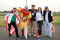 Fans pose for a photo before the match. The men's national team of the United States (USA) was defeated by Ecuador (ECU) 1-0 during an international friendly at Red Bull Arena in Harrison, NJ, on October 11, 2011.