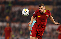 Roma s Edin Dzeko heads the ball during the Uefa Champions League quarter final second leg football match between AS Roma and FC Barcelona at Rome's Olympic stadium, April 10, 2018.<br /> UPDATE IMAGES PRESS/Riccardo De Luca