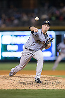 Scranton\Wilkes-Barre RailRiders relief pitcher Danny Burawa (38) in action against the Charlotte Knights at BB&T BallPark on May 1, 2015 in Charlotte, North Carolina.  The RailRiders defeated the Knights 5-4.  (Brian Westerholt/Four Seam Images)