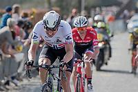 Edvald Boasson Hagen (NOR/Dimension Data) up the Taaienberg<br /> <br /> 101th Ronde Van Vlaanderen 2017 (1.UWT)<br /> 1day race: Antwerp › Oudenaarde - BEL (260km)