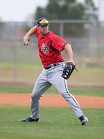 Washington Nationals minor leaguer Robert Jacobsen during Spring Training at the Carl Barger Training Complex on March 20, 2007 in Melbourne, Florida.  (Mike Janes/Four Seam Images)