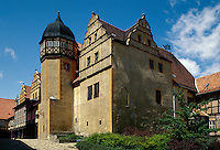 Deutschland, Sachsen-Anhalt, Schloss in Quedlinburg, Unesco-Weltkulturerbe.Castle in Quedlinburg, world heritage