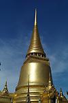The Phra Rattana Chedi within the Grand Palace and Wat Phra Kaeo Bangkok, Thailand