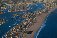 aerial photograph of Newport Beach, Orange County, California