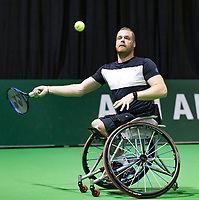 Rotterdam, The Netherlands, 14 Februari 2019, ABNAMRO World Tennis Tournament, Ahoy, Wheelchair, Maikel Scheffers (NED),<br /> Photo: www.tennisimages.com/Henk Koster