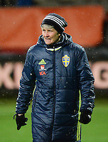 20160302 – ROTTERDAM ,  NEDERLAND : Sweden's coach Pia Sundhage pictured during the Olympic Qualification Tournament  soccer game between the women teams of Norway and Sweden, The first game for both teams in the Olympic Qualification Tournament for the Olympic games in Rio de Janeiro - Brasil, Wednesday 2 March 2016 at Stadion Woudestein in Rotterdam , Netherlands  PHOTO DIRK VUYLSTEKE