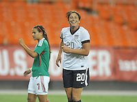Abby Wambach (20) celebrates her score in the 11th minute of the game. The USWNT defeated Mexico 7-0 during an international friendly, at RFK Stadium, Tuesday September 3, 2013.