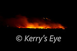 Gorse fires raged in South Kerry on the 10th February pictured here one of the fires at Cloghanelinaghan/Killurly West with secondary fires on Cnoc na dTobar.