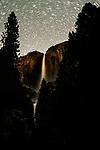 USA, California, Yosemite National Park , Yosemite Falls by night