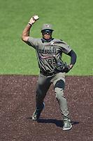 Vanderbilt Commodores third baseman Jayson Gonzalez (99) on defense against the South Carolina Gamecocks at Hawkins Field on March 21, 2021 in Nashville, Tennessee. (Brian Westerholt/Four Seam Images)