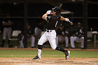 AZL White Sox designated hitter Steele Walker (8) collects his first hit as a professional during an Arizona League game against the AZL Athletics at Camelback Ranch on July 15, 2018 in Glendale, Arizona. The AZL White Sox defeated the AZL Athletics 2-1. (Zachary Lucy/Four Seam Images)