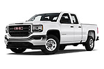 Stock pictures of low aggressive front three quarter view of a 2019 GMC Sierra 1500 Limited Base 4 Door Pick Up