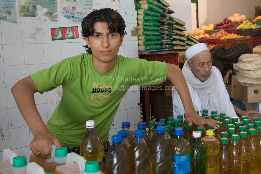 Tripoli, Libya - Olive Oil Vendor, Young Man