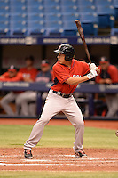 Boston Red Sox outfielder Bryan Hudson (31) during an Instructional League game against the Tampa Bay Rays on September 25, 2014 at Tropicana Field in St. Petersburg, Florida.  (Mike Janes/Four Seam Images)