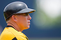 VCU Rams head coach Paul Keyes #5 from the third base coaches box at the Charlottesville Regional of the 2010 College World Series at Davenport Field on June 5, 2010, in Charlottesville, Virginia.  The Red Storm defeated the Rams 8-6.  Photo by Brian Westerholt / Four Seam Images