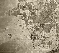 historical aerial map view McCarran Airport, Clark County, Las Vegas, Nevada, 1973