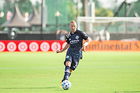 LAKE BUENA VISTA, FL - JULY 9: Anton Tinnerholm #3 of NYFC passes the ball during a game between New York City FC and Philadelphia Union at Wide World of Sports on July 9, 2020 in Lake Buena Vista, Florida.