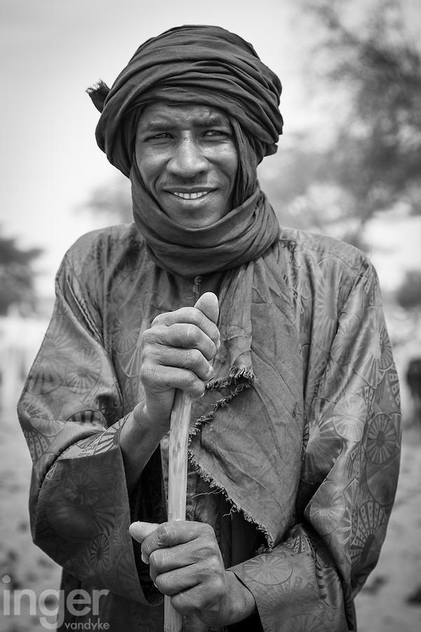 Fulani cattle herder near Richard Toll in northern Senegal