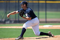 March 26, 2010:  Pitcher Jonathan Hovis (2) of the New York Yankees organization during Spring Training at the Yankees Minor League Complex in Tampa, FL.  Photo By Mike Janes/Four Seam Images