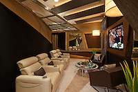 Stock photo of home theater / media room