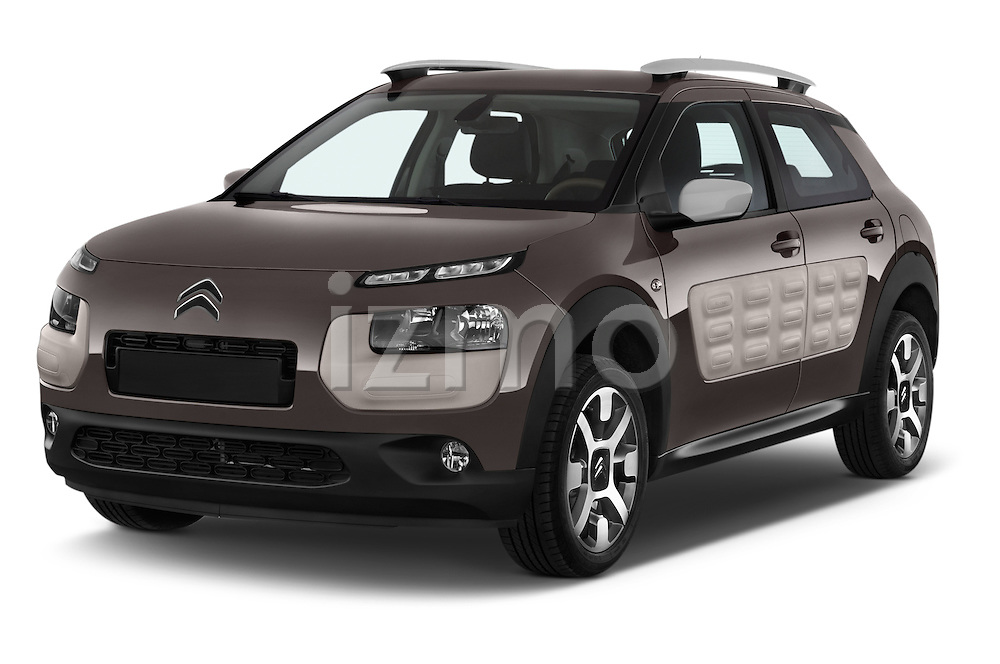 2014 Citroen C4 CACTUS Shine Edition Midnight 5 Door Mini Van 2WD Angular Front stock photos of front three quarter view