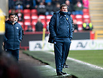 Aberdeen v St Johnstone…31.03.18…  Pittodrie    SPFL<br />Saints manager Tommy Wright<br />Picture by Graeme Hart. <br />Copyright Perthshire Picture Agency<br />Tel: 01738 623350  Mobile: 07990 594431