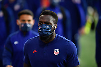 ORLANDO CITY, FL - JANUARY 31: Jozy Altidore #17 of the United States before a game between Trinidad and Tobago and USMNT at Exploria stadium on January 31, 2021 in Orlando City, Florida.